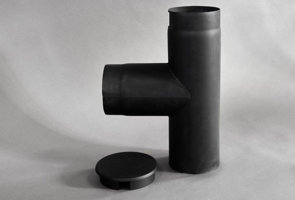 Rauchrohr T-Stück für Kamin